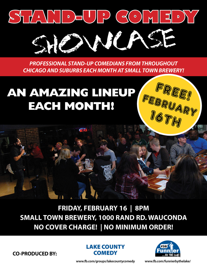 FBTL Comedy Showcase at Small Town Brewery - 02-16-2018 @ Small Town Brewery | Wauconda | Illinois | United States