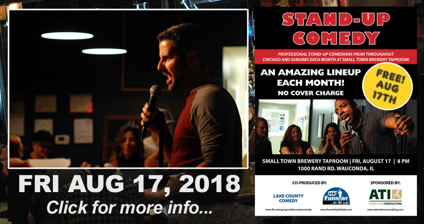 Funnier By The Lake Comedy at Small Town Brewery Taproom