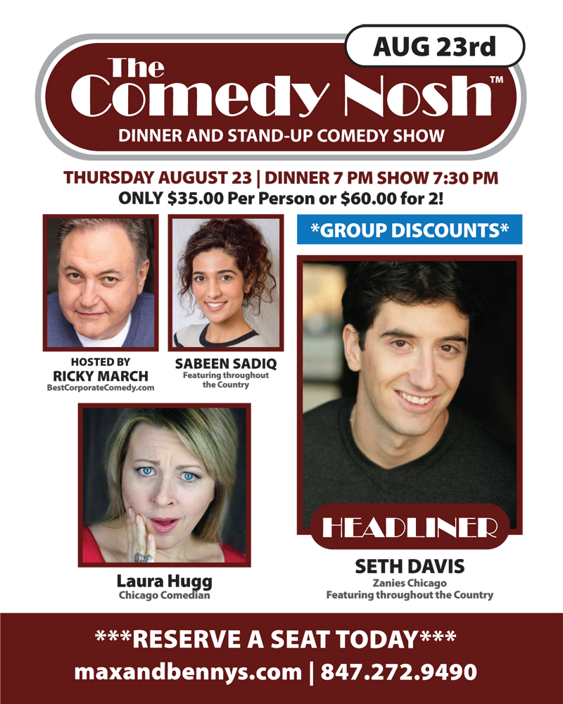 The Comedy Nosh with Headliner Seth Davis