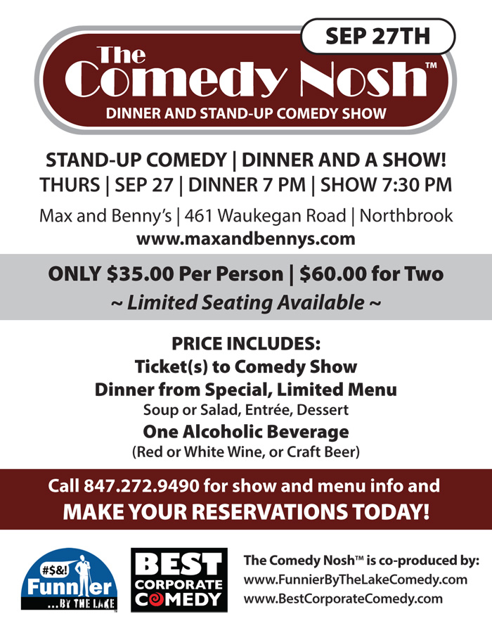 The Comedy Nosh with headliner Lance Richards | Funnier By The Lake Comedy