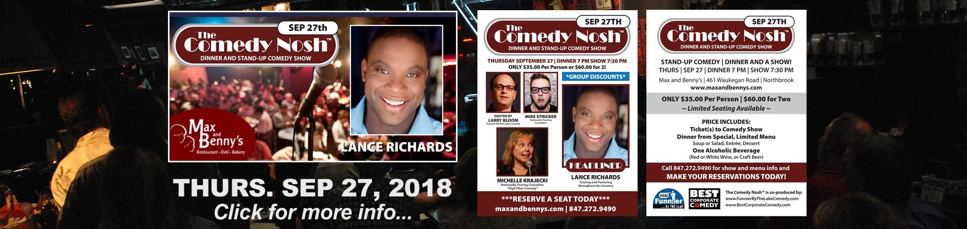 The Comedy Nosh with Headliner Lance Richards